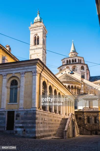 Bergamo, Italy. Side view of the St Mary Major (Santa Maria Maggiore Basilica).