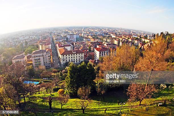 Bergamo seen from above