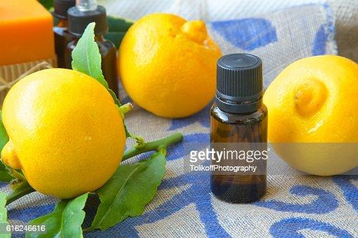 Bergamota aceite esencial : Foto de stock