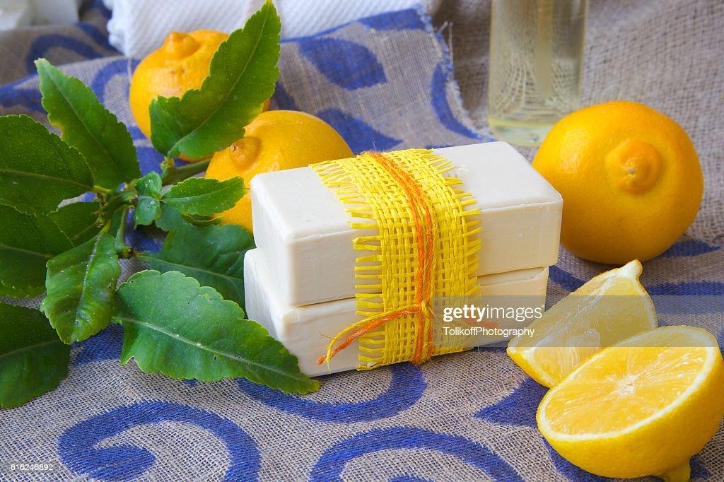 Bergamot soap : Stock Photo