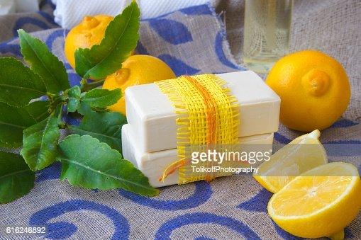 Bergamot soap : Foto de stock