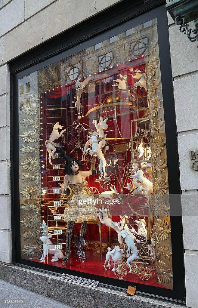 Bergdorf Goodman's holiday window display on December 24, 2012 in New York City.