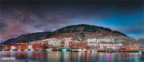 Bergen Harbour in Winter