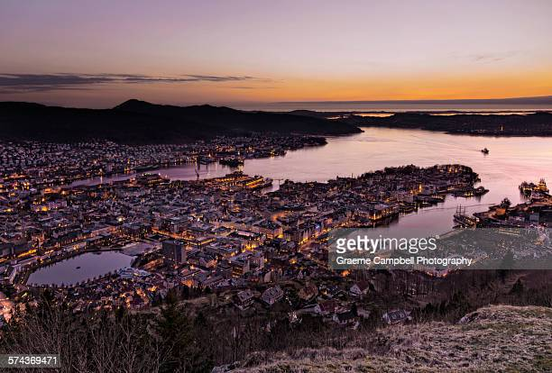 Bergen nightfall