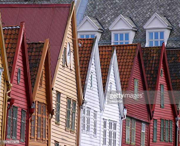 Bergen norway bryggen area Unesco World Heritage