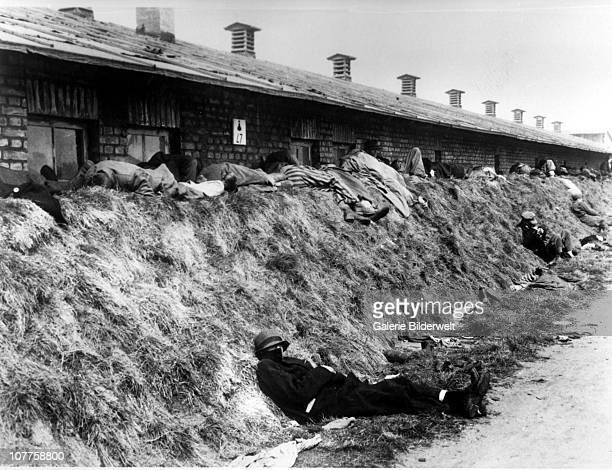 BergenBelsen Concentration Camp Corpses of dead inmates are all over the camp after it has been turned over to the Allied 21st Army Group 15th April...