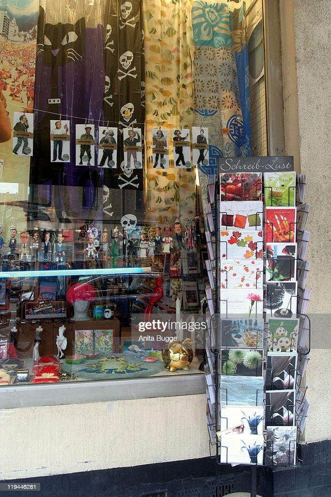 Bergmannstrasse at NostizstrassePostcards and knick knack shop 'Ararat'