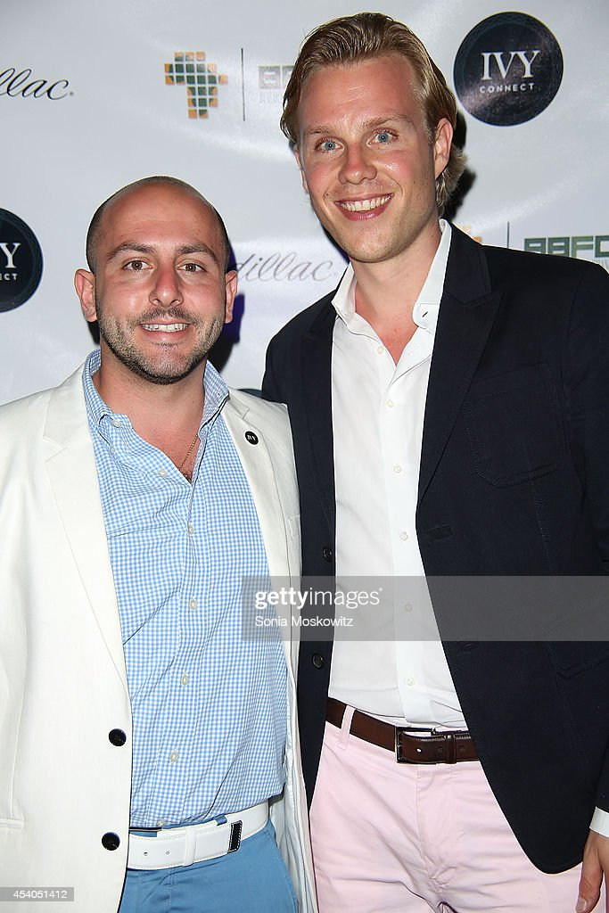 Beri Meric and Philipp Triebel attend the 2014 Hamptons Summer Soiree Charity Benefit at Private Residence on August 23, 2014 in Southampton, New York.