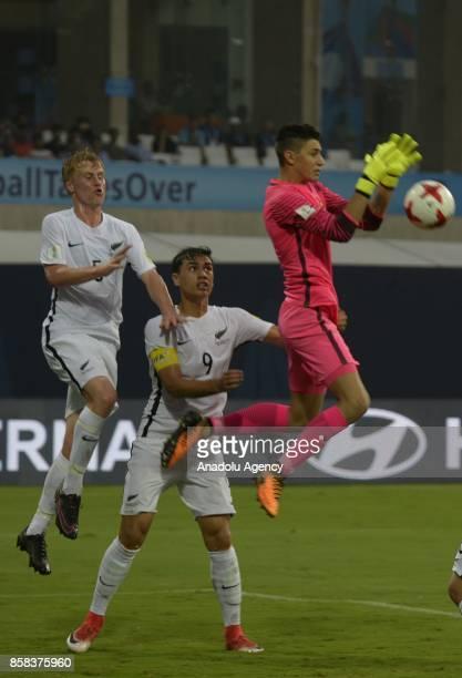 Berke Ozer of Turkey U17 in action during the FIFA U17 World Cup India 2017 football match between Turkey U17 and New Zealand U17 in Mumbai India on...