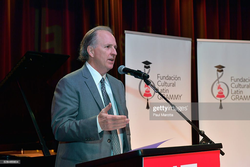 Berklee President Roger Brown at the Juan Luis Guerra Scholarship Presentation, presented by the Latin GRAMMY Cultural Foundation at Berklee College of Music on May 5, 2016 in Boston, Massachusetts.