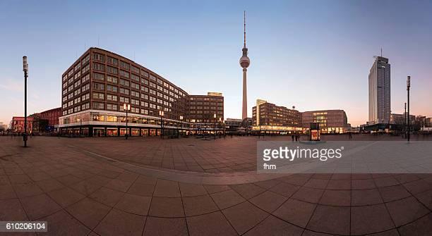 Berlin Alexanderplatz - Panorama before sunset