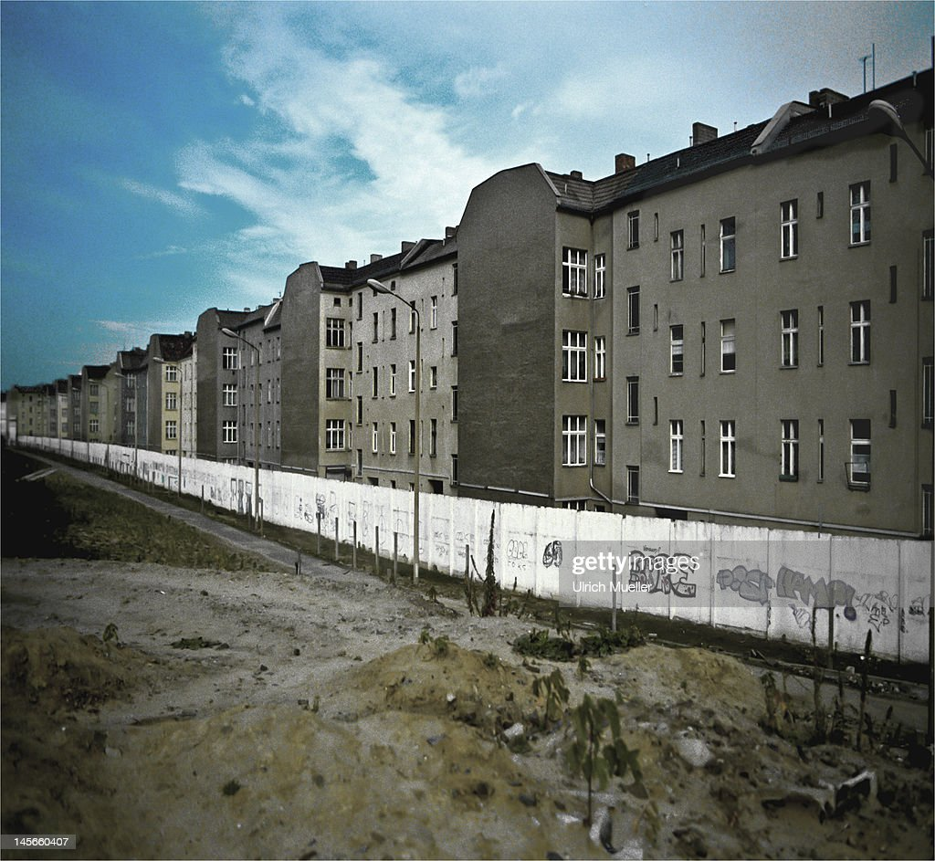 Berlin and wall : Stock Photo