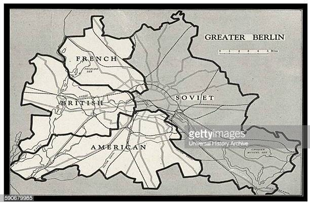 Berlin Blockade Map 1948 The Berlin Blockade was one of the first major international crises of the Cold War During the multinational occupation of...