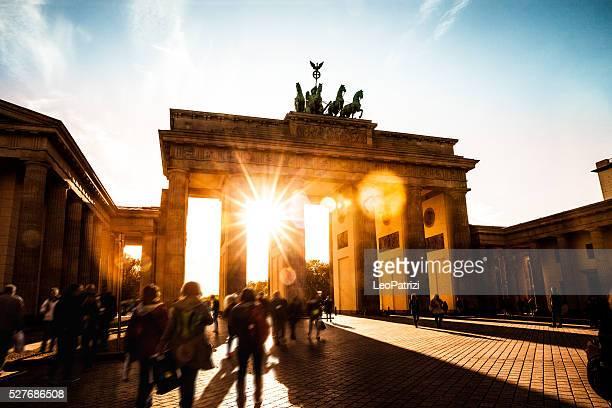 Berlin-Brandenburg Tor während dem Sonnenuntergang