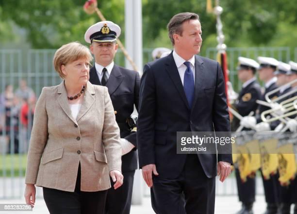 Berlin Bundeskanzleramt Empfang des britischen Premierministers Cameron mit militärischen Ehren durch BK'in Merkel FotoBundeskanzlerin Angela Merkel...