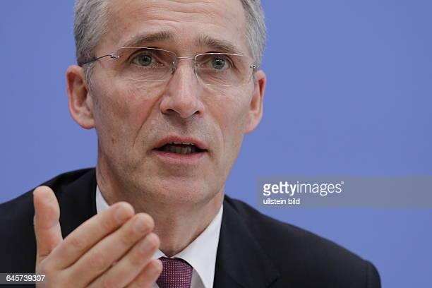 Berlin BundespressekonferenzThema Starke NATO in einer gefährlichen Welt Foto Jens Stoltenberg Generalsekretär der Nordatlantikpaktorganisation