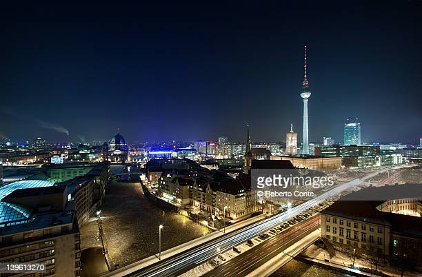 Berlin by night in winter