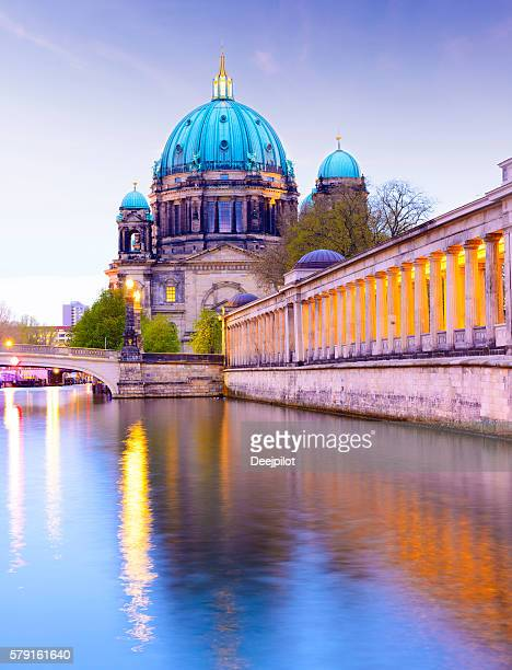 Berlin Cathedral, the Berliner Dom at twilight, Germany