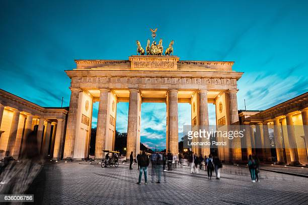 Berlin cityscape at night - Brandenburg Gate