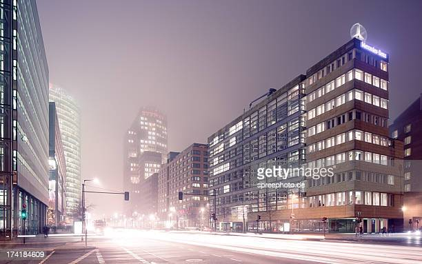 Berlin Cityscape with fog and lighttrails