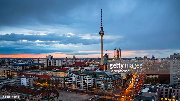 Stadt mit Fernsehturm Berlin, Deutschland