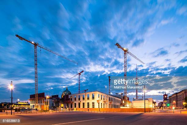 Berlin construction site skyline