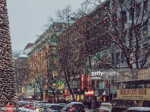 Berlin decorated with Christmas lights