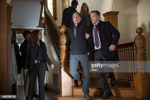 THE BLACKLIST 'Berlin' Episode 120 Pictured Parminder Nagra as Meera Malik Brennan Brown as Dr Vogel Diego Klattenhoff as Donald Ressler