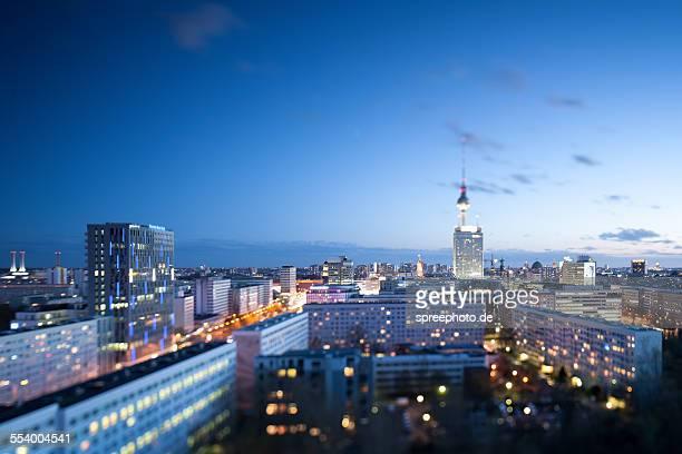 Berlin Fernsehturm skyline tilt shift