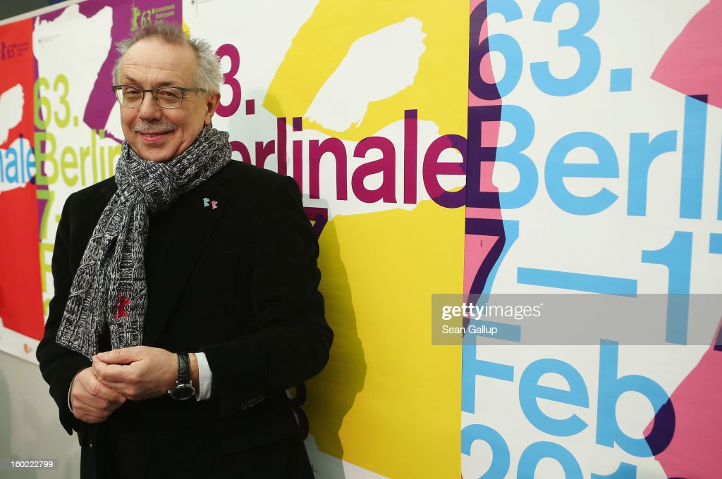 Berlin Film Festival Director Dieter Kosslick (2nd from R), Director of the Berlinale International Film Festival, arrives to speak at the opening press conference of the 63rd Berlinale on January 28, 2013 in Berlin, Germany. The 63rd Berlinale will run from February 7-17.