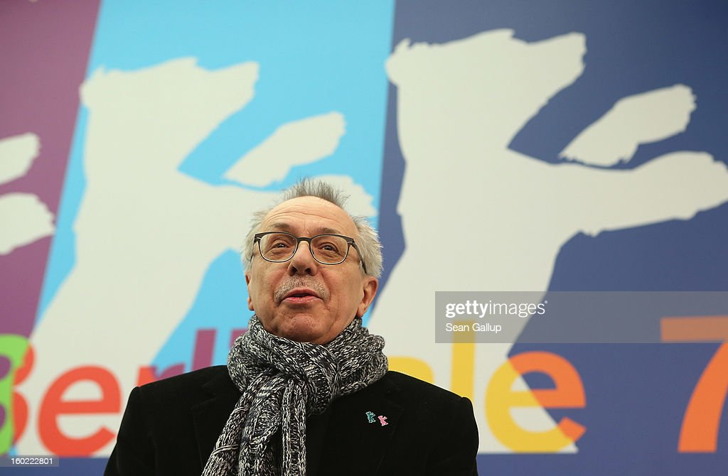Berlin Film Festival Director <a gi-track='captionPersonalityLinkClicked' href=/galleries/search?phrase=Dieter+Kosslick&family=editorial&specificpeople=213030 ng-click='$event.stopPropagation()'>Dieter Kosslick</a>, Director of the Berlinale International Film Festival, speaks at the opening press conference of the 63rd Berlinale on January 28, 2013 in Berlin, Germany. The 63rd Berlinale will run from February 7-17.