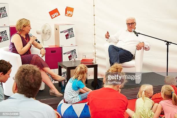 Berlin Germany 17th August 2013 Politicians of the SPD party read fairy tales for children at the 150th anniversary of the SPD Party celebrated at...