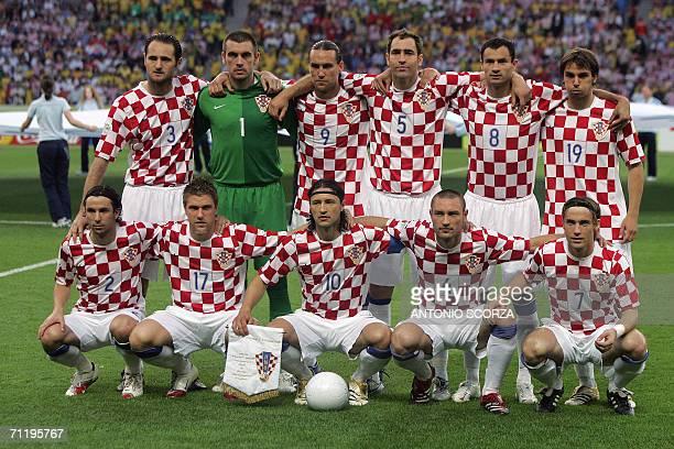 Croatian team picture defender Josip Simunic goalkeeper Stipe Pletikosa forward Dado Prso defender Igor Tudor midfielder Marko Babic Croatian...