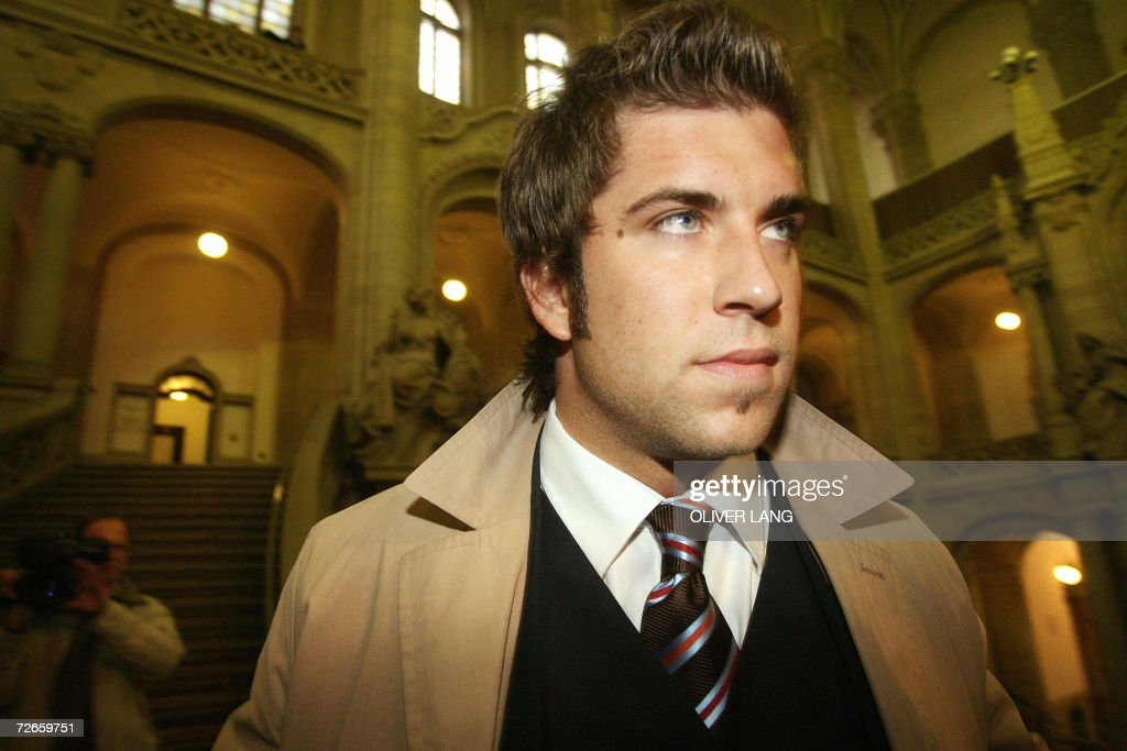 FILES A picture taken 17 November 2005 shows former German football referee Robert Hoyzer arriving at court in Berlin to hear the sentence in his...