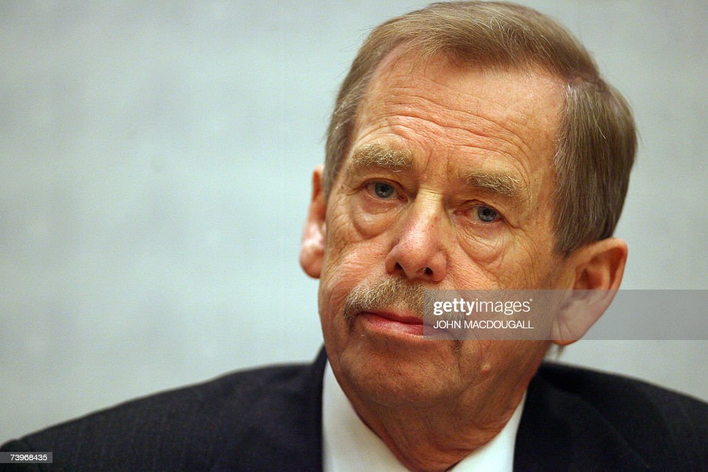 Former Czech president <a gi-track='captionPersonalityLinkClicked' href=/galleries/search?phrase=Vaclav+Havel&family=editorial&specificpeople=202931 ng-click='$event.stopPropagation()'>Vaclav Havel</a> attends a conference on 'Democracy in Cuba, Seeking Common Initiatives' organised by the 'Conference of the International Committee for Democracy in Cuba', at the Konrad Adenauer foundation in Berlin 25 April 2007. AFP PHOTO JOHN MACDOUGALL