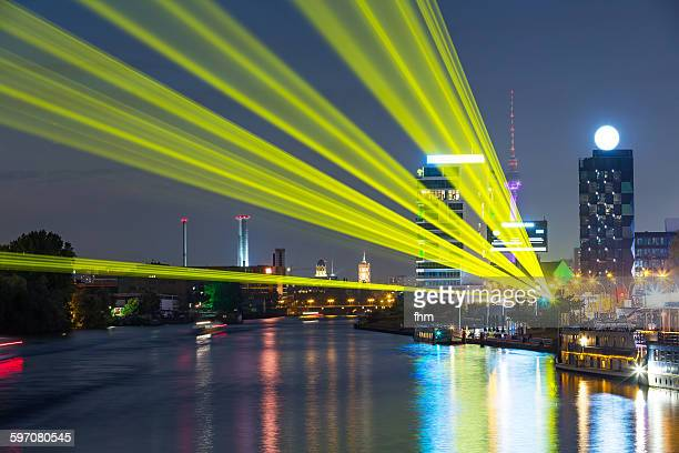 Berlin, Germany - light effects with laser beams
