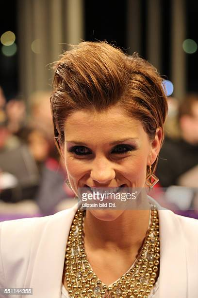 Berlin Germany March 27 2014 Singer AnnaMaria Zimmermann attends at the lila carpet at the Echo Awards 2014