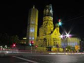Berlin Kaiser Wilhelm Memorial Church (Germany) by night