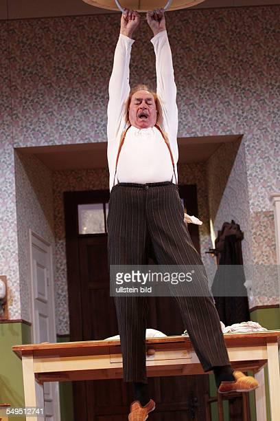 Berlin Komödie am Kurfürstendamm play 'The End of the Beginning' by Sean O'Casey actor Achim Wolff as Darry Berrill