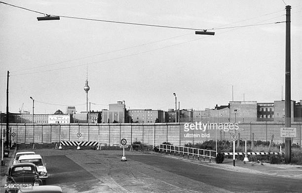 Berlin Mauer am Potsdamer Platz Blick von der Potsdamer Strasse