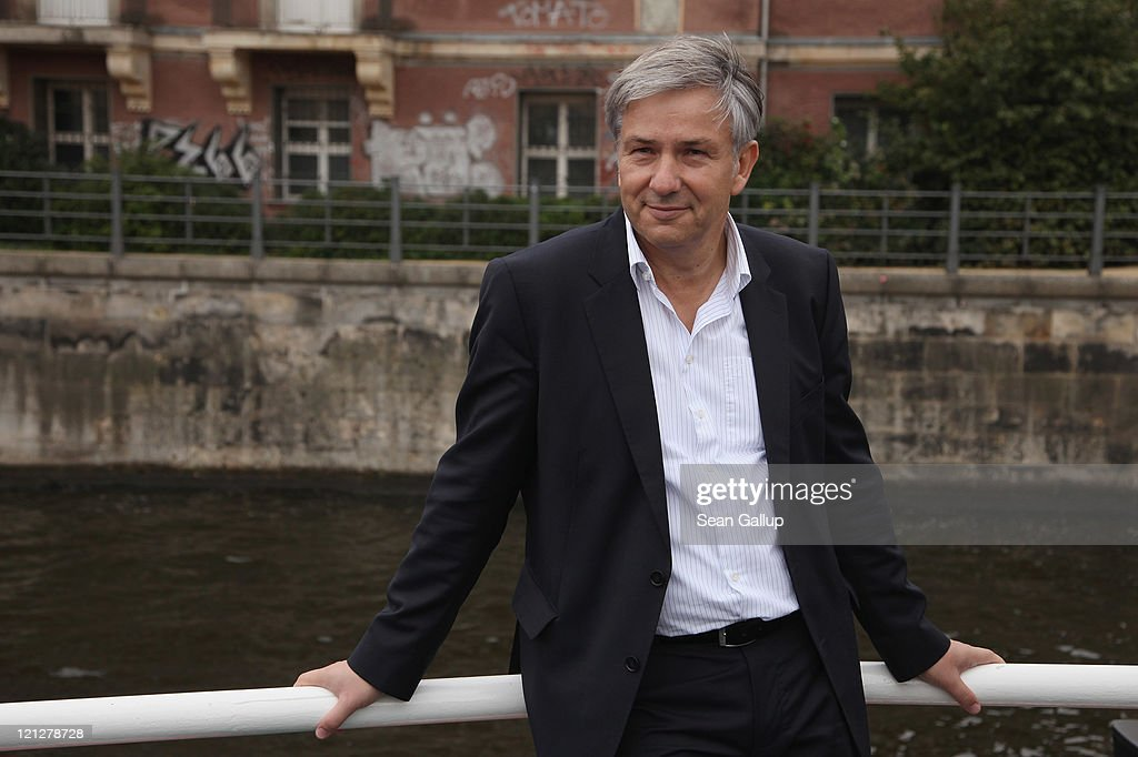 Berlin Mayor Klaus Wowereit rides a boat on the Spree river while touring the city center with senior citizens on August 17 2011 in Berlin Germany...