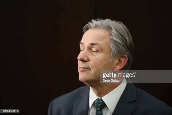 Berlin Mayor Klaus Wowereit speaks to reporters following a meeting of the governing board of the new Willy Brandt Berlin Brandenburg International...