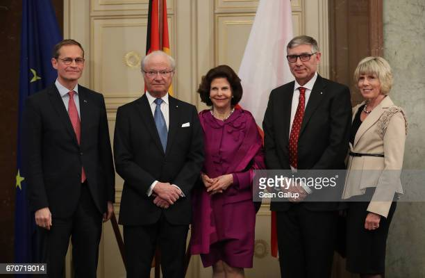 Berlin Mayor Michael Mueller King Carl XVI Gustaf of Sweden Queen Silvia of Sweden World Scout Foundation Chairman Wayne Perry and his wife Christine...