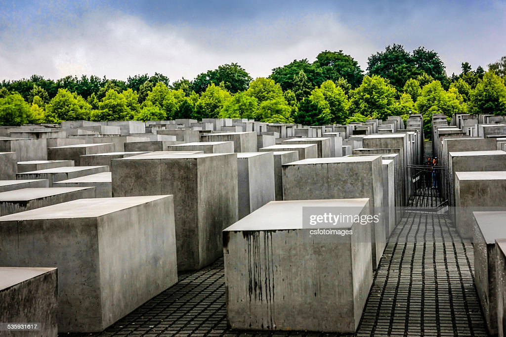 Berlin Memorial to the Murdered Jews of Europe : Stock Photo