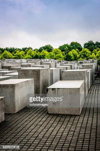 Berlin Memorial to the Murdered Jews of Europe : Stock Photo