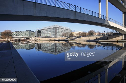 Modern Architecture Germany berlin modern architecture in the government district stock photo