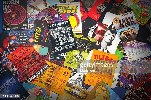 ベルリンのナイトライフや音楽シーン :  チラシ、leaflets および広告
