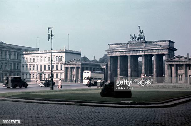 Berlin Pariser Platz and Brandenburg Gate 1941