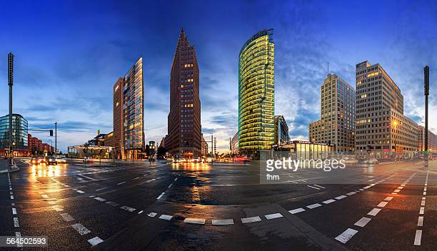 Berlin, Potsdamer Platz, Panorama at blue hour