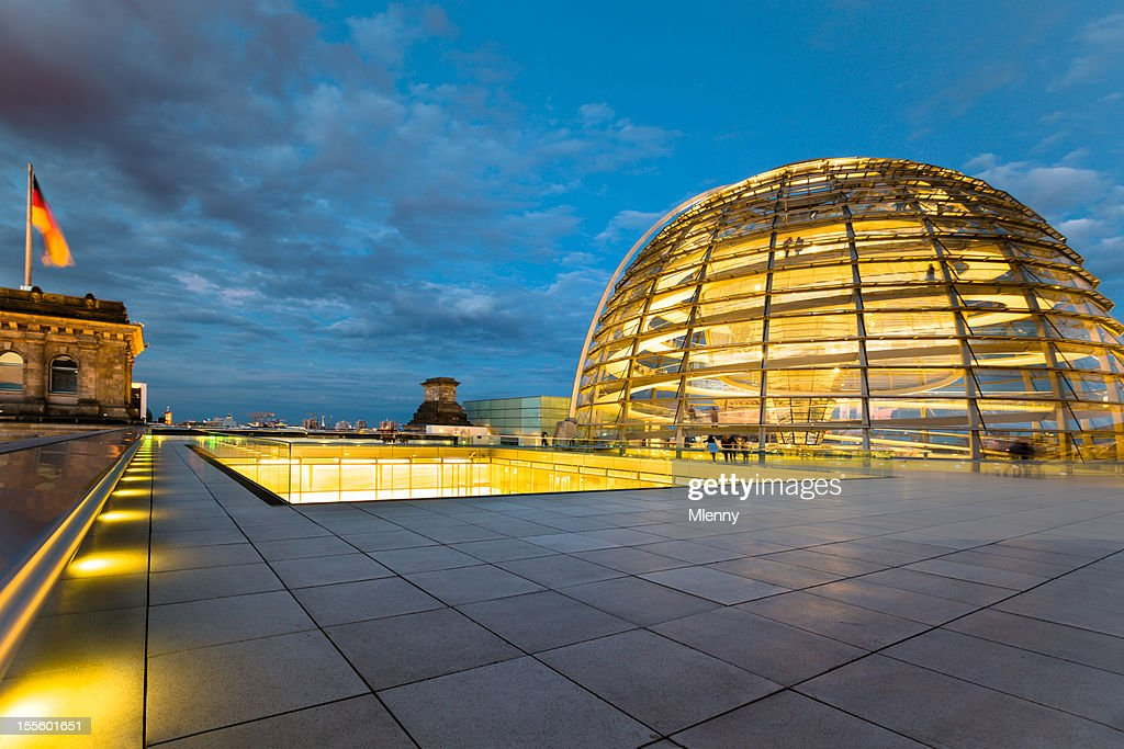 Berlin Reichstag Dome by Night
